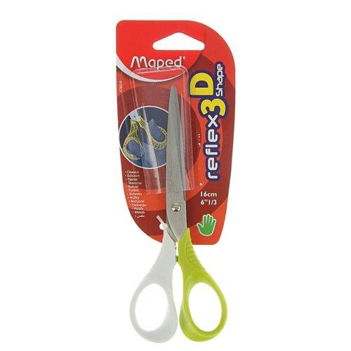 Maped ножницы Reflex 3D Shape 16см белый/зеленый