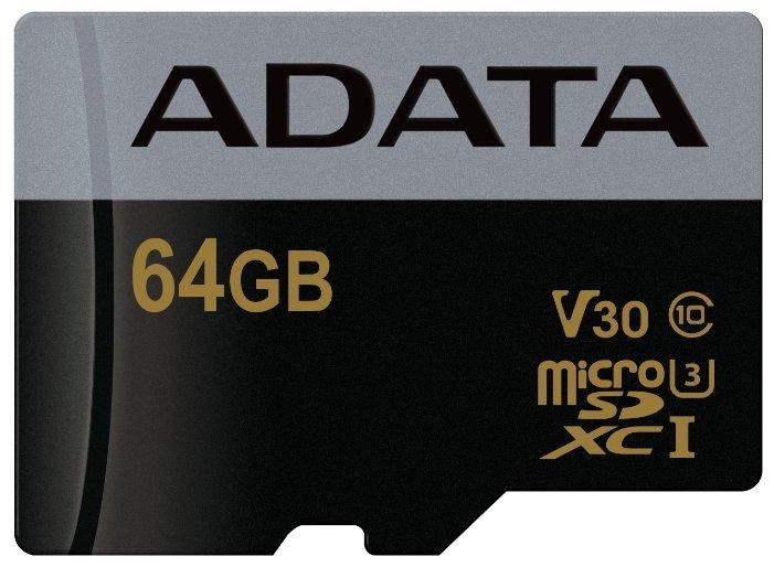 Карта памяти ADATA Premier Pro microSDXC UHS-I U3 V30 Class 10 (R95/W90) + SD adapter