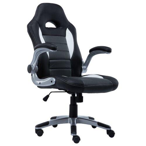 Компьютерное кресло COSTWAY ZK8040, обивка: искусственная кожа, цвет: черный/серый/белыйКомпьютерные кресла<br>