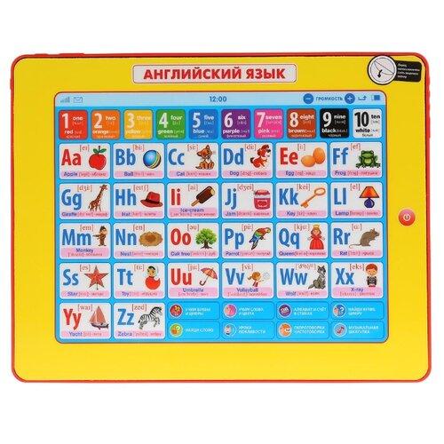 Планшет Умка Английский язык желтый/красный планшет умка новогодняя азбука hx82015 r31 синий желтый