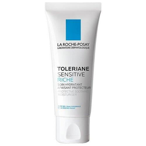 La Roche-Posay Toleriane Sensitive Riche Насыщенный крем увлажняющий уход для сухой чувствительной кожи лица с пребиотической формулой, 40 мл la roche posay toleriane ultra contour yeux