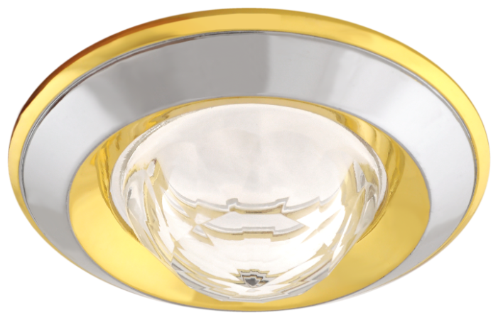 Встраиваемый светильник De Fran FT 103 WA CHG, хром / золото / белый
