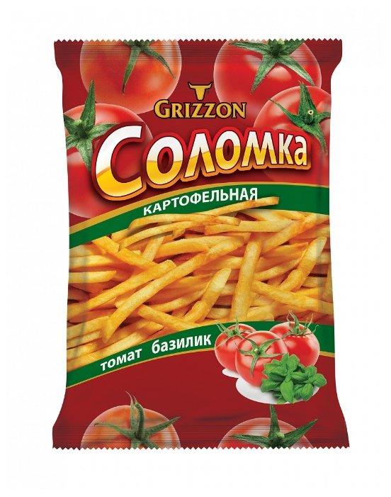 Соломка картофельная GRIZZON со вкусом томата и базилика 80 г