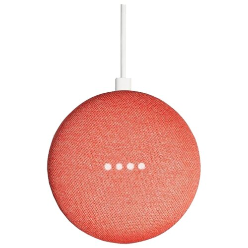 Умная колонка Google Home Mini, coral