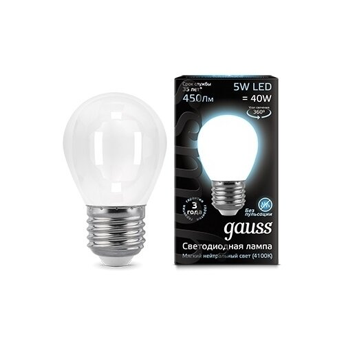 цена на Лампа светодиодная gauss 105202205, E27, G45, 5Вт