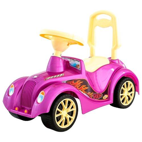 Купить Каталка-толокар RT Ретро ОР900 (5312 / 5313 / 5314) со звуковыми эффектами розовый, Каталки и качалки