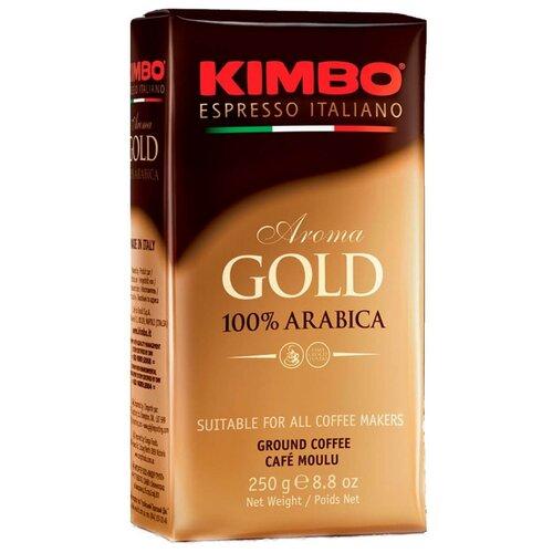 Кофе молотый Kimbo Aroma Gold Arabica вакуумная упаковка, 250 г кофе в зернах kimbo aroma gold 100% arabica 250 г