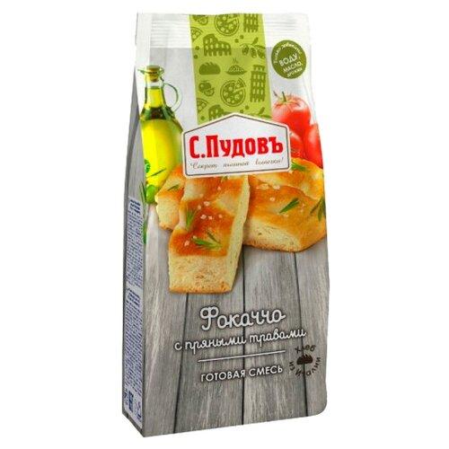 С.Пудовъ Мучная смесь Фокаччо с пряными травами, 0.4 кгСмеси для выпечки<br>