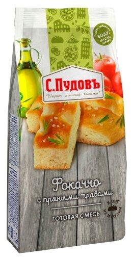 С.Пудовъ Мучная смесь Фокаччо с пряными травами, 0.4 кг