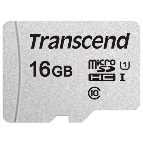 Фото - Карта памяти Transcend microSDHC 300S Class 10 UHS-I U1 16GB + SD adapter (TS16GUSD300S-A) карта памяти 16gb transcend high capacity ultimate class 10 secure digital ts16gsdhc10