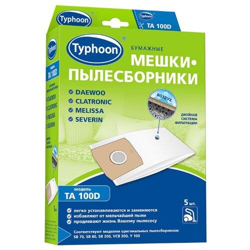 Тайфун Бумажные мешки-пылесборники TA 100D белый 5 шт.