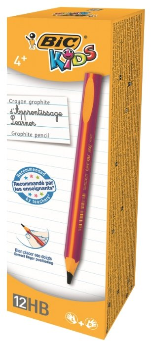BIC Набор чернографитных карандашей Kids Pink 12 шт (919263)