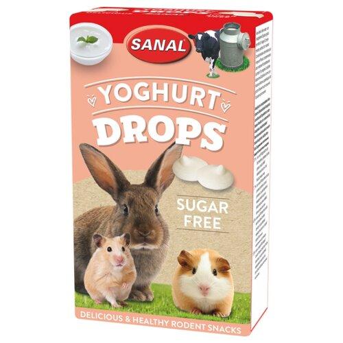 Лакомство для кроликов, грызунов SANAL Yoghurt Drops sugar free с йогуртом, без сахара 45 г