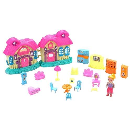 Купить Dolly Toy Карамельный домик DOL0803-002, голубой/розовый, Кукольные домики