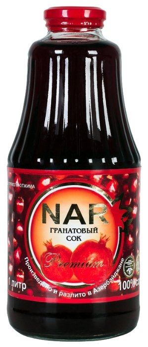 Сок Nar гранатовый, 1л