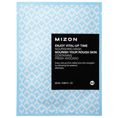 Mizon Enjoy Vital-Up Time Nourishing Mask тканевая питательная маска, 25 мл тканевая маска mizon bio collagen ampoule mask объем 27 мл