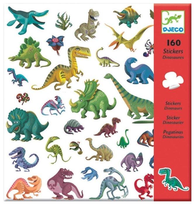 DJECO Наклейки Динозавры, 160 шт. (08843)