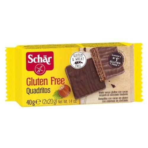 Вафли Schar Quadritos в шоколаде без глютена 40 г