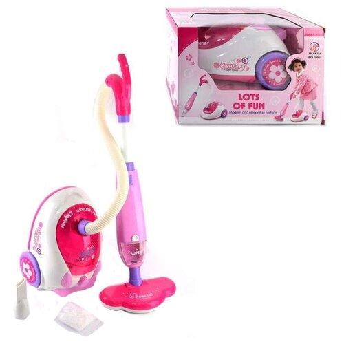 цена на Пылесос Shantou Gepai Lots of fun 5960 белый/розовый/фиолетовый