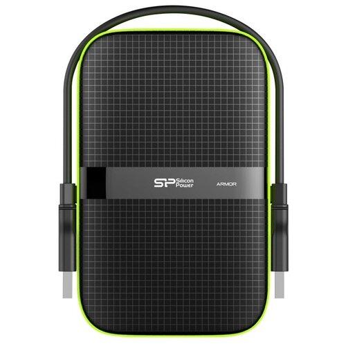 Купить Внешний HDD Silicon Power Armor A60 1 ТБ черный/зеленый