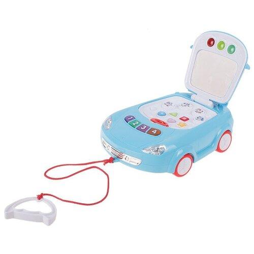 Интерактивная развивающая игрушка Zhorya Музыкальная машина (ZY173451), голубой