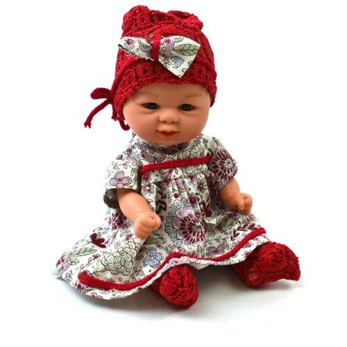 Купить Пупс D'Nenes Бебетин в платье и красных колготках, 21 см, 12671, Куклы и пупсы