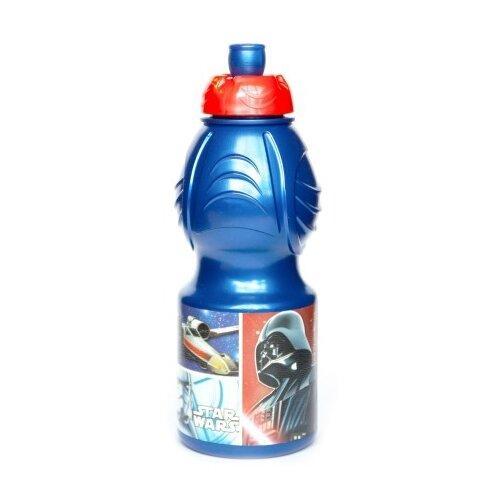 Бутылка для воды, для безалкогольных напитков Stor спортивная фигурная 0.4 пластик Звездные Войны Классика