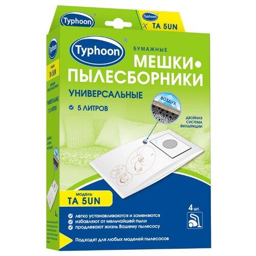 Тайфун Бумажные мешки-пылесборники TA 5UN белый 4 шт.