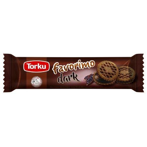 Печенье Torku Favorimo Dark сэндвич с какао и с шоколадным кремом, 61 г мыло с колд кремом авен