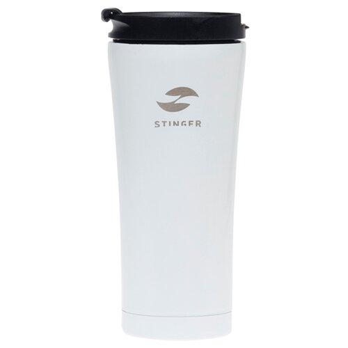 Термокружка STINGER HY-VF143, 0.45 л белый глянцевый