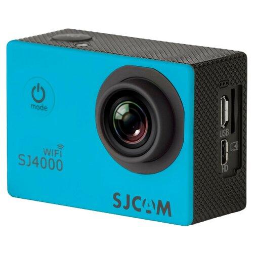 Фото - Экшн-камера SJCAM SJ4000 WiFi голубой экшн камера sjcam sj4000 wi fi yellow