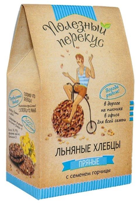 Хлебцы льняные Полезный перекус пряные с семенем горчицы 100 г