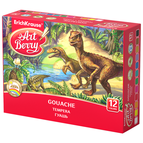 ErichKrause Гуашь ArtBerry с УФ защитой яркости 12 цветов (41746)