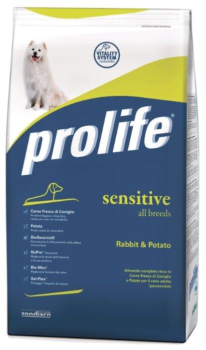 Корм для собак Prolife Adult All Breeds Sensitive с кроликом и картофелем