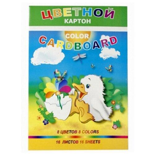 Купить Цветной картон Утенок Лилия Холдинг, A4, 16 л., 8 цв., Цветная бумага и картон