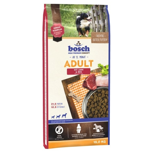 Bosch (15 кг) Adult Lamb & Rice Корма для собак