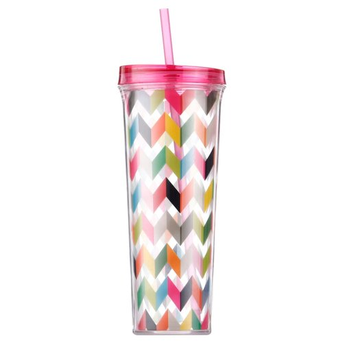 Тамблер French Bull Drinkup Straw Ziggy (0,7 л) розовый