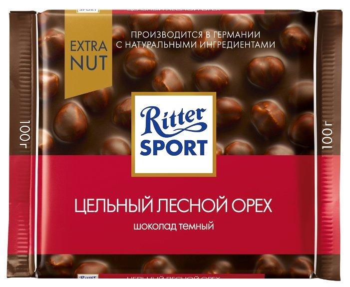 Шоколад Ritter Sport Extra Nut темный цельный лесной орех
