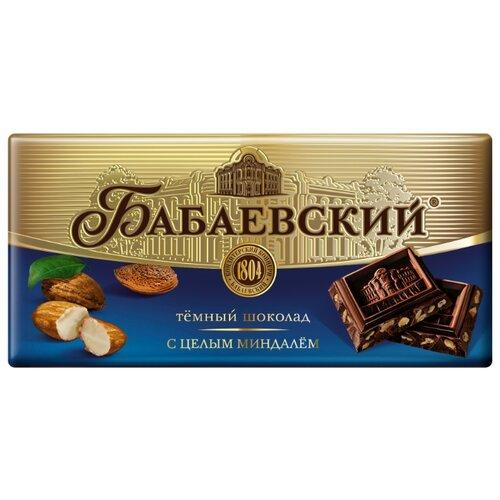 Шоколад Бабаевский темный с целым миндалем, 100 г