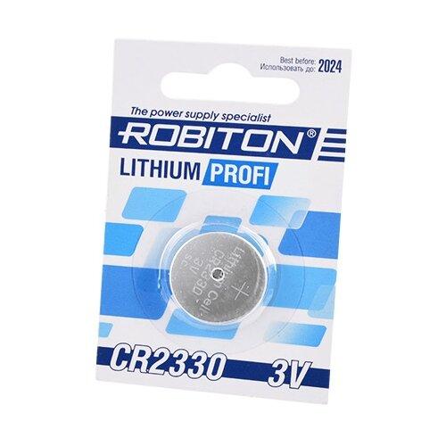 Фото - Батарейка ROBITON Lithium Profi CR2330 1 шт блистер элемент питания robiton profi 2cr5 блистер 1шт