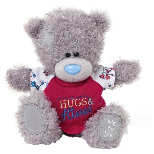 Купить Мягкая игрушка Me to you Мишка Тедди в футболке Hugs & kisses 20 см, Мягкие игрушки