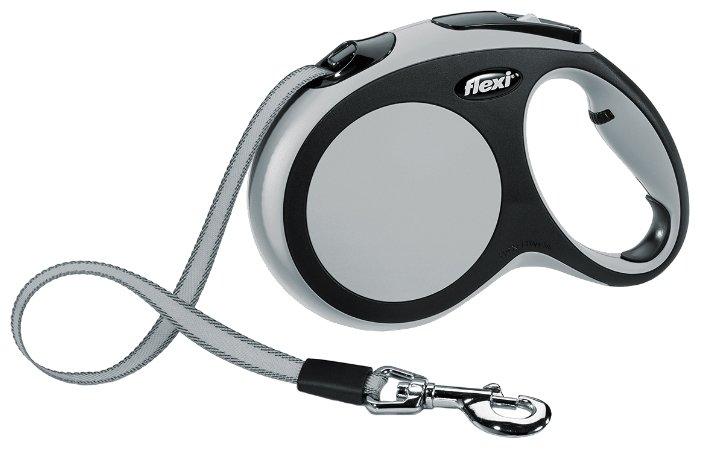 Рулетка FLEXI New Comfort L до 60 кг, лента 5 м, черный-зеленый