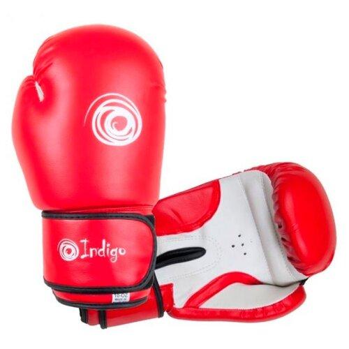 Боксерские перчатки Indigo PS-799 красный 6 ozБоксерские<br>