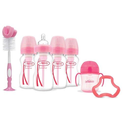 Dr. Browns Подарочный набор (7 предметов), розовыйБутылочки и ниблеры<br>