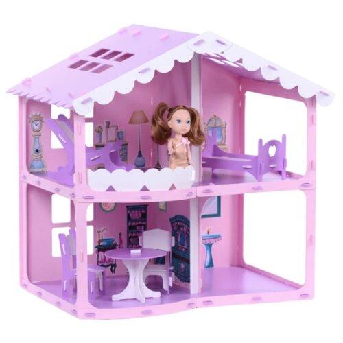KRASATOYS 000255, розовый/сиреневый/белыйКукольные домики<br>