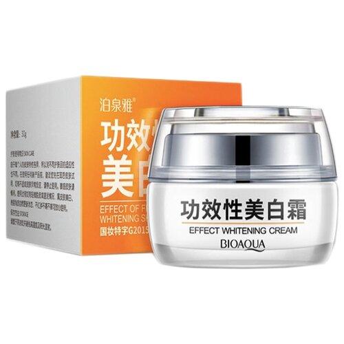 BioAqua Effect Whitening Cream Крем для лица отбеливающий с клюквой, 30 г хороший отбеливающий крем для лица недорогой