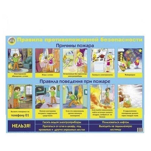 Плакат Маленький гений Правила противопожарной безопасности 9045Обучающие плакаты<br>
