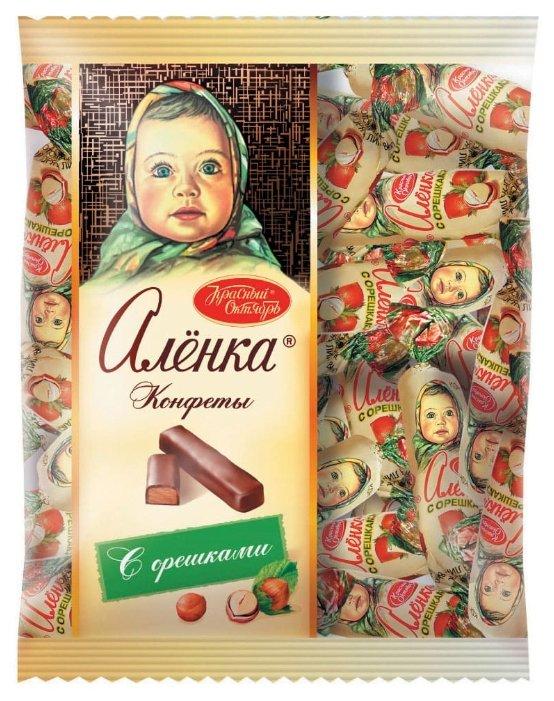 Конфеты Алёнка с орешками, пакет