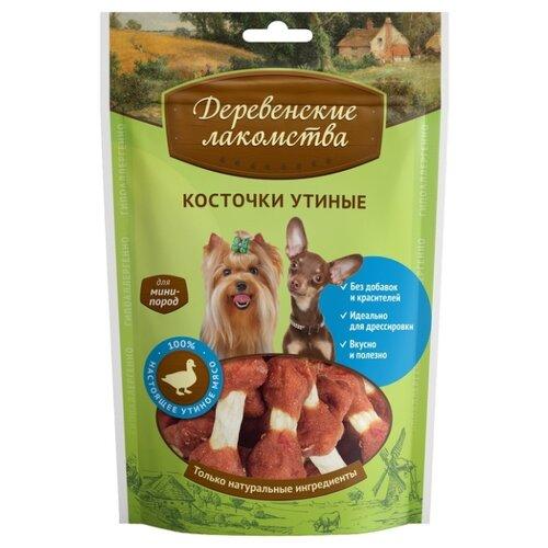 Лакомство для собак Деревенские лакомства для мини-пород Косточки утиные, 55 г