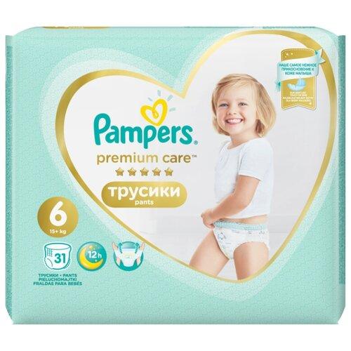 цена на Pampers Premium Care трусики 6 (15+ кг) 31 шт.
